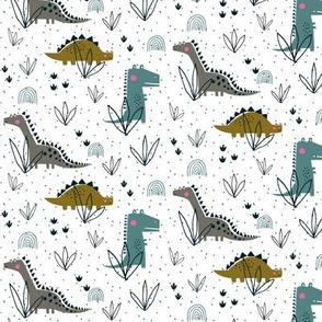 Dinosaur t-rex stegosaurus kids extra small