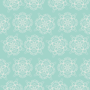 Wicker Floral on Mint