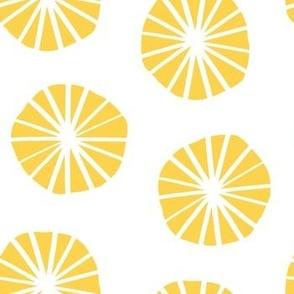 Mod Scandinavian Dandelions in Yellow + White
