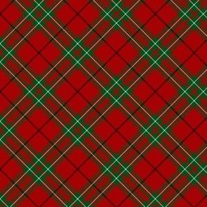 "Cumming / Comyn red tartan, diagonal  3"""