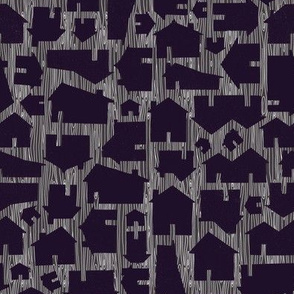 Solid Houses - Wonky Woodgrain Background