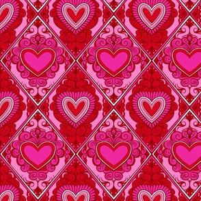 Valentine Hearts Grid 1