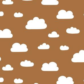 Clouds Ochre Brown