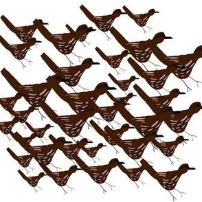 Flock of Wrens large