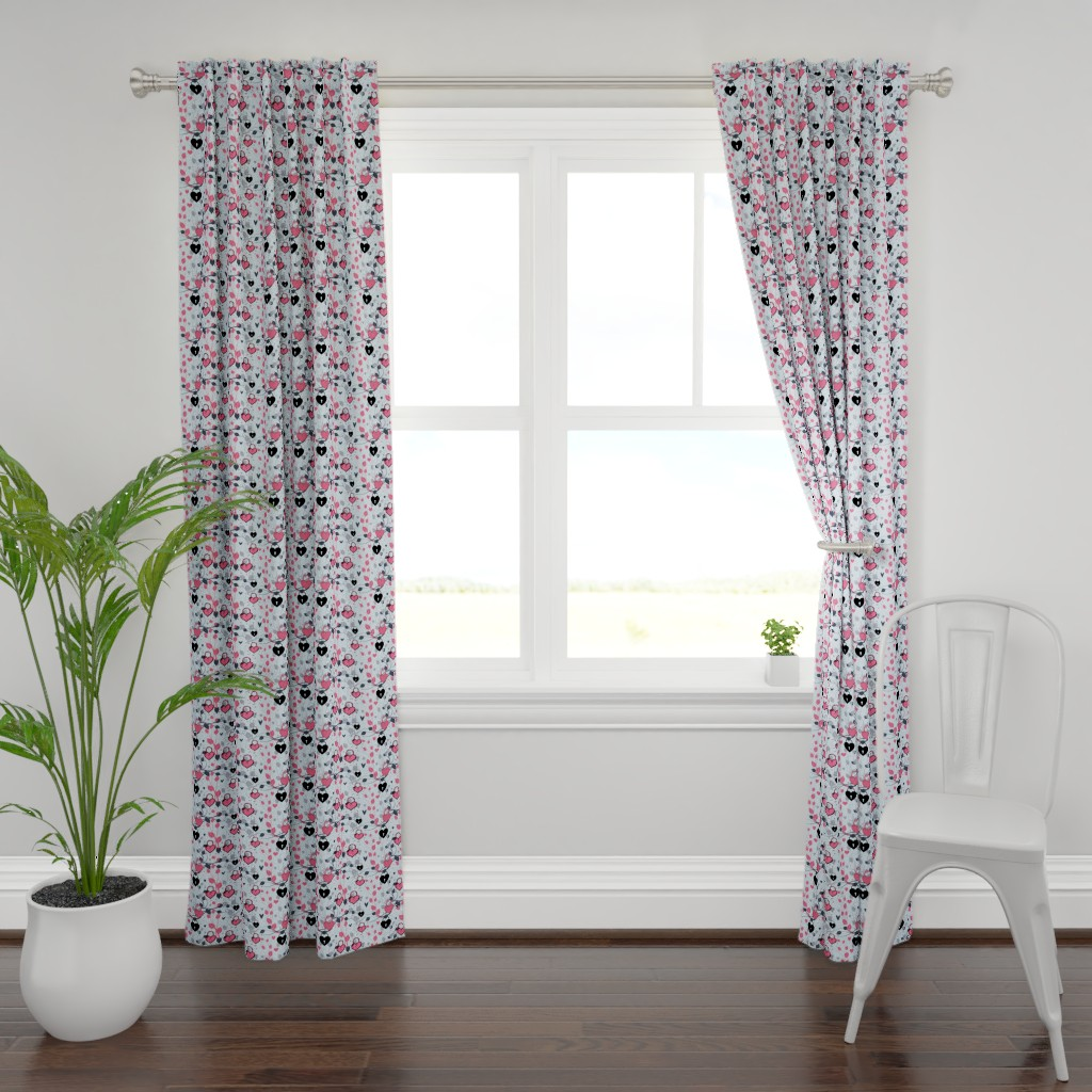 Plymouth Curtain Panel featuring  For The Love Of Ivy by bluevelvet