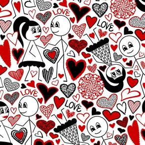 Stick Figures in Love