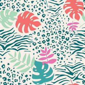 Bright Tropical Animal Print