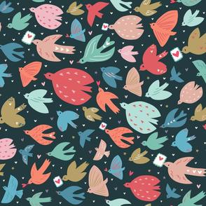 Sending love (birds)