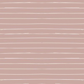 Bone Stripes on Dusty Pink