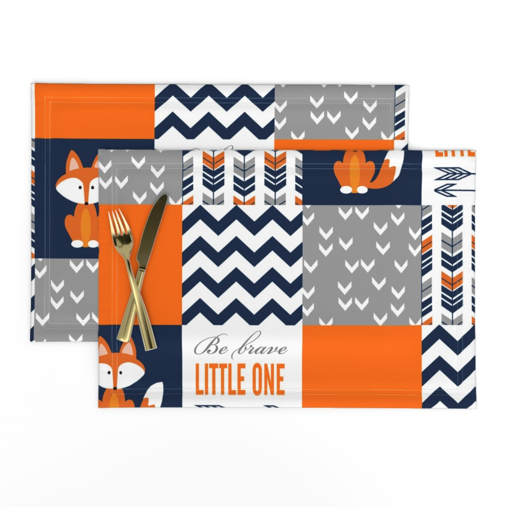 Lamona Cloth Placemats featuring Patchwork Fox Design by sewluvin