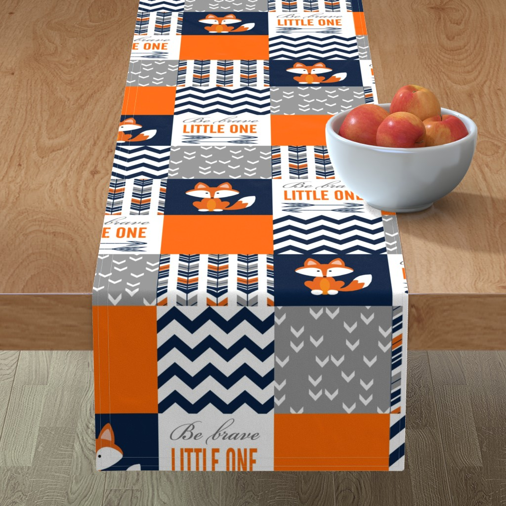 Minorca Table Runner featuring Patchwork Fox Design by sewluvin