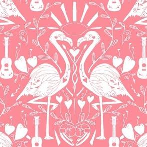 Totally Crushing- Flamingos on Coral
