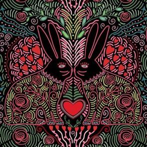 be my bunny valentine - black