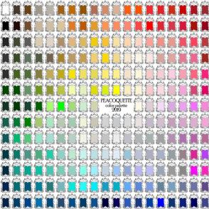 Peacoquette Palette 2019 ~ Fat Quarter Scale