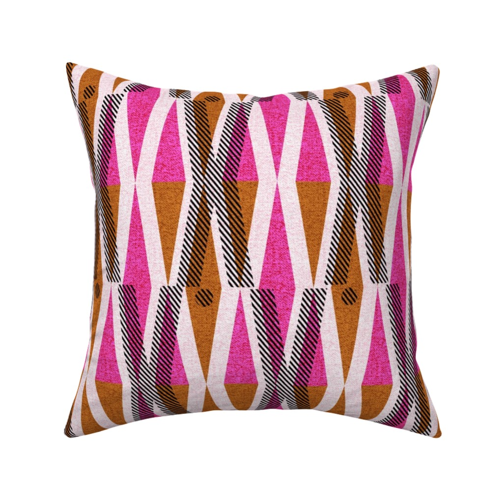 Catalan Throw Pillow featuring X and O-African wax love by ottomanbrim