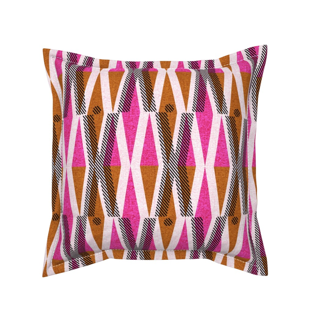 Serama Throw Pillow featuring X and O-African wax love by ottomanbrim