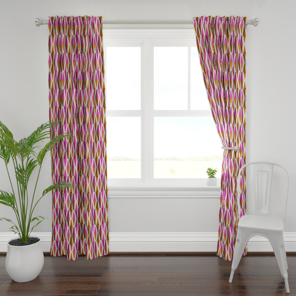 Plymouth Curtain Panel featuring X and O-African wax love by ottomanbrim