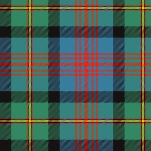 "Logan or MacLennan tartan, traditional 5-stripe, 6"" ancient"