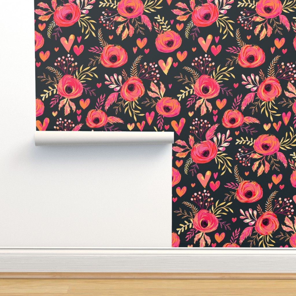 Isobar Durable Wallpaper featuring Valentine Flowers by jill_o_connor
