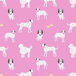 dog print pink