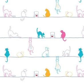kitty kitten line white