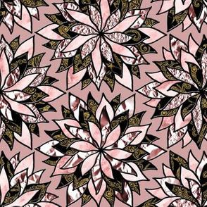 Texture Flowers antique pink