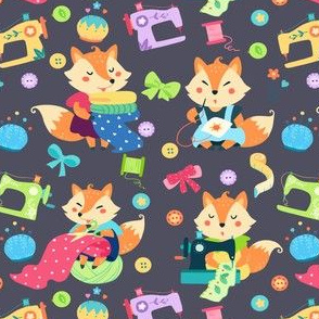 Sewing Foxes Pattern