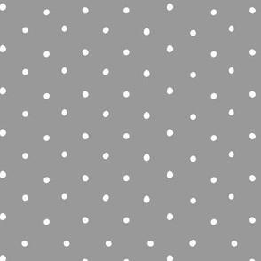 Polka Dots on Gray