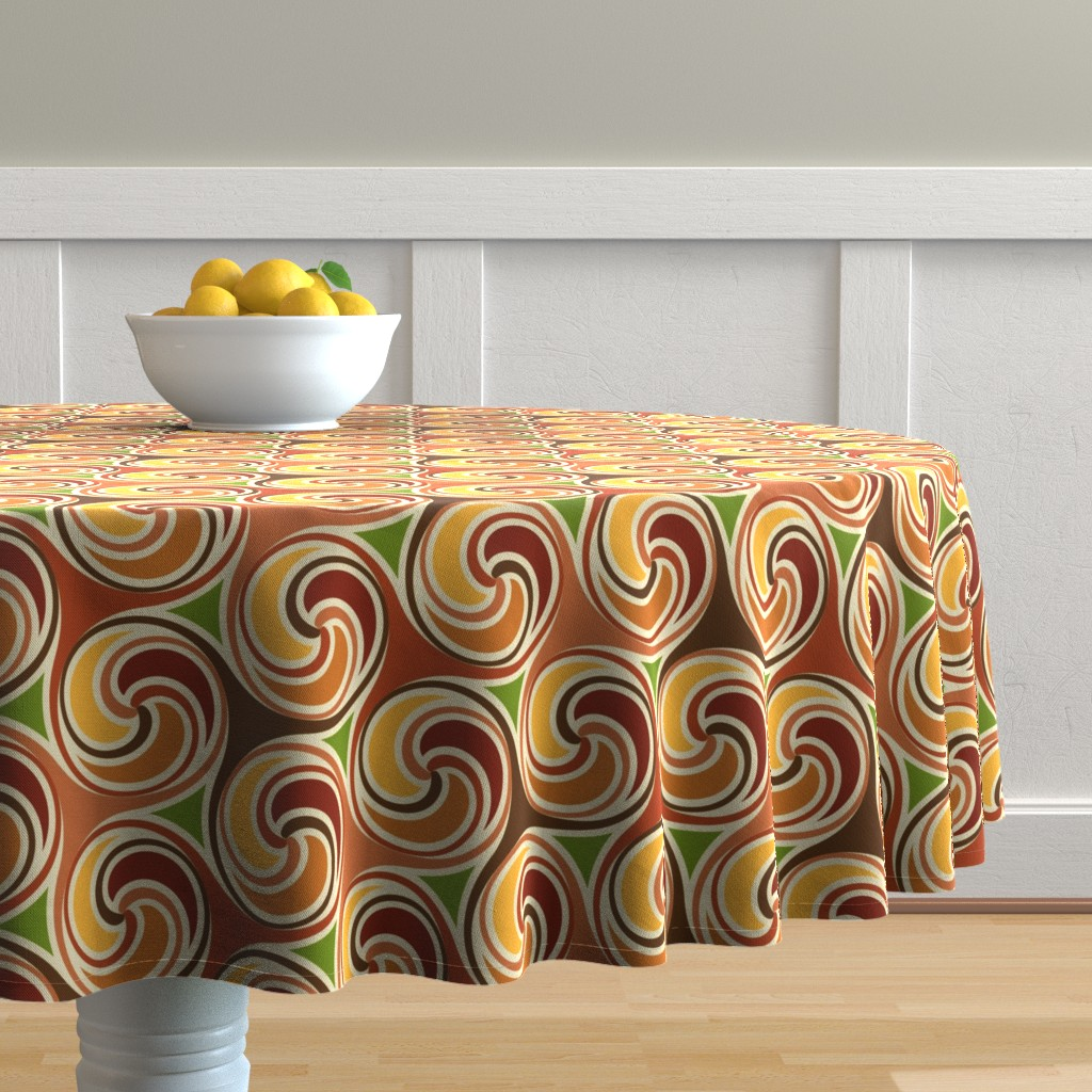 Malay Round Tablecloth featuring triskexcess by hannafate