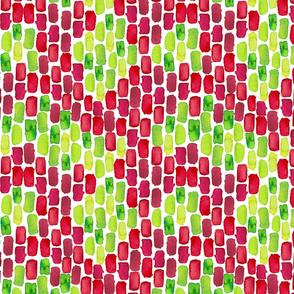 Red & Green| Watercolor Print