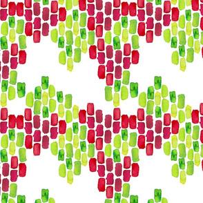 Red & Green 2| Watercolor print