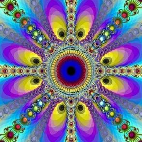 Fractal Peacock Circles