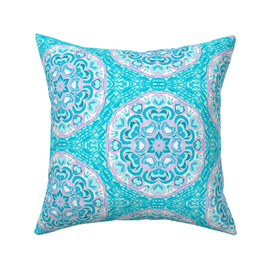 Catalan Throw Pillow featuring Love Warms Frozen Hearts by rhondadesigns