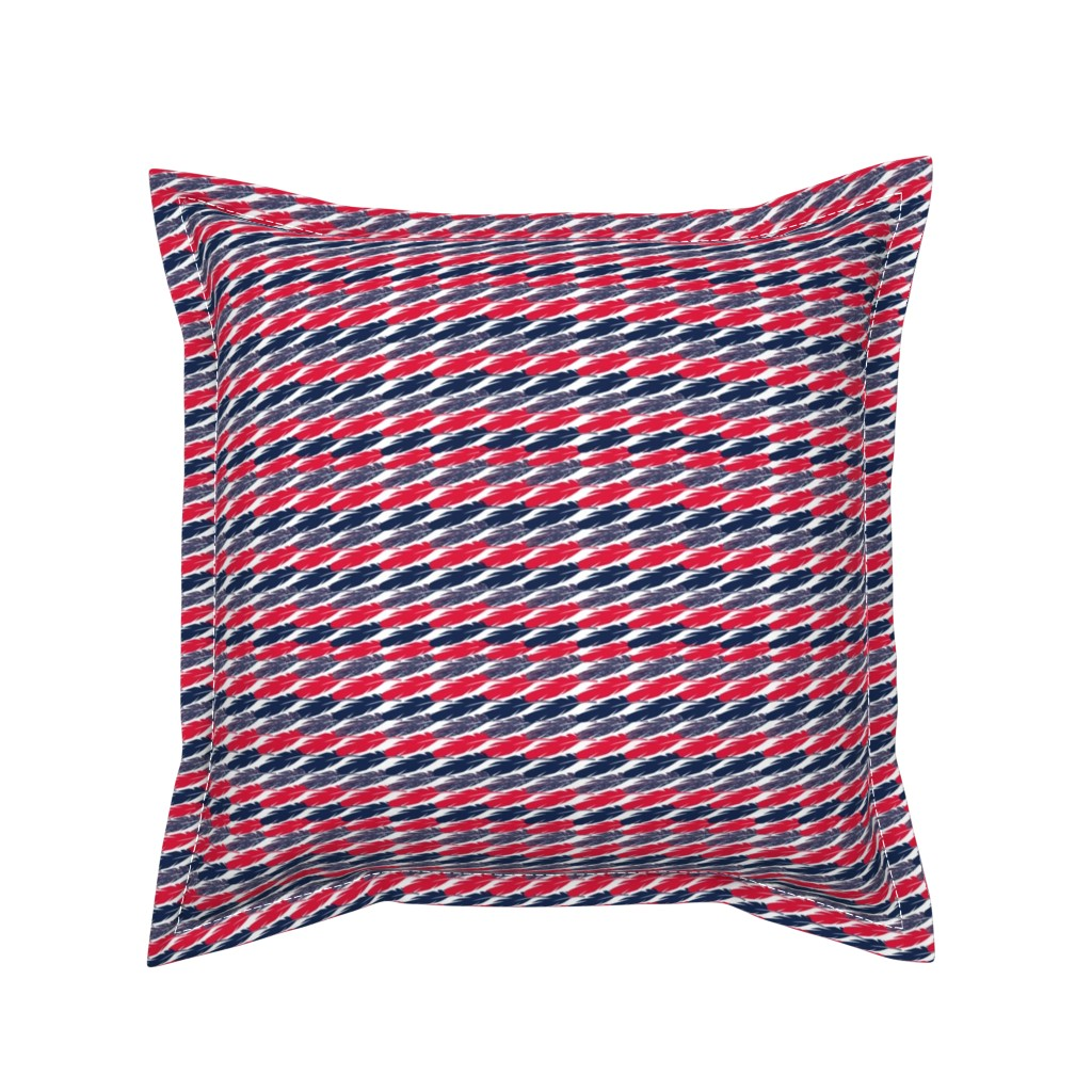 Serama Throw Pillow featuring Cleveland Indians Team Colors by snow_bird_designs