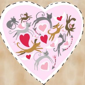 Valentine Big Heart Pillow