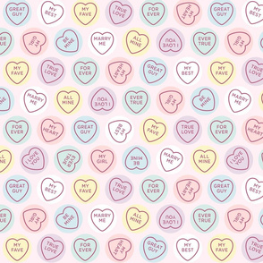 Sweet Candy Love Hearts