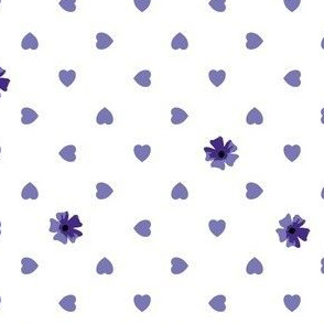 Hearts n Flowers - Blueberry