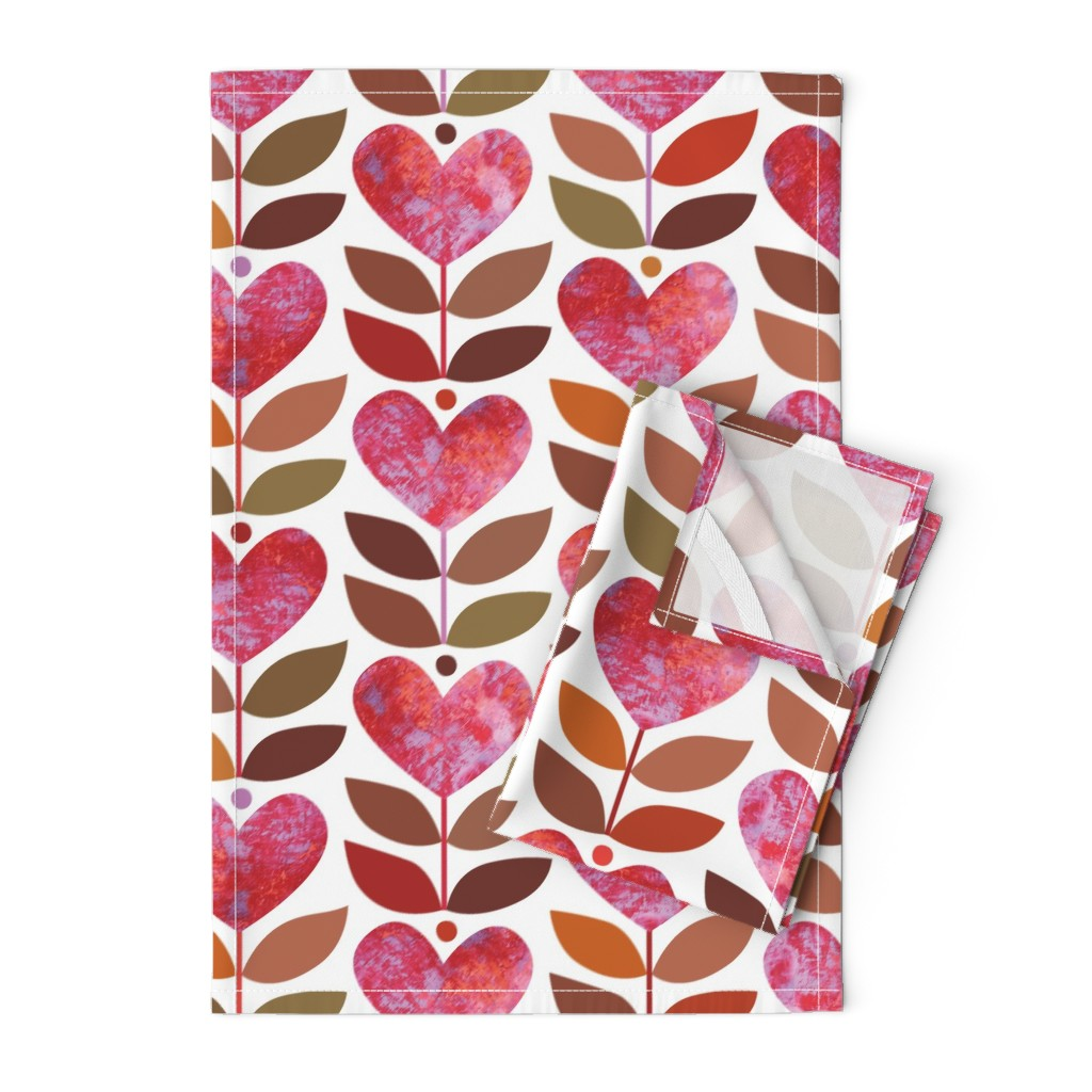Orpington Tea Towels featuring Love Grows by kokara