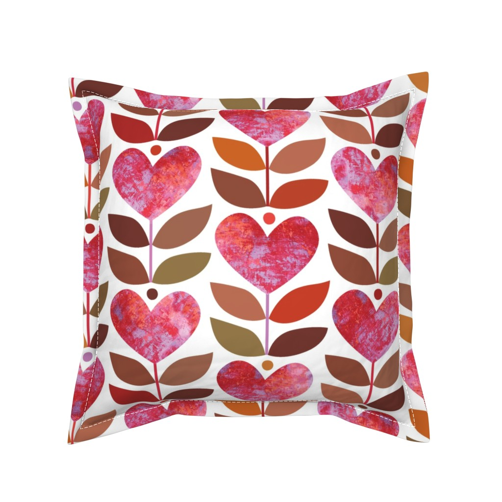 Serama Throw Pillow featuring Love Grows by kokara