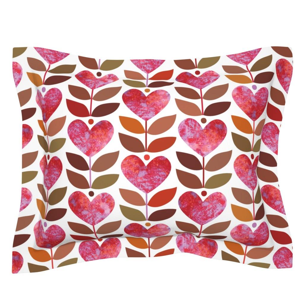 Sebright Pillow Sham featuring Love Grows by kokara