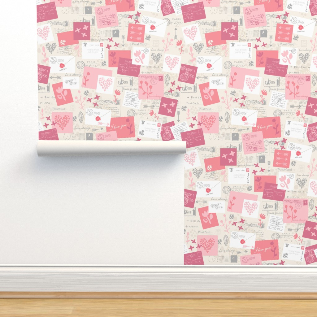 Isobar Durable Wallpaper featuring Love Letters - Valentines by sarah_treu
