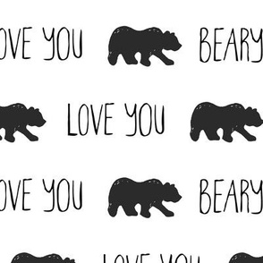 Love You Beary Much - Black