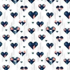 Geometric Heart Day Blue