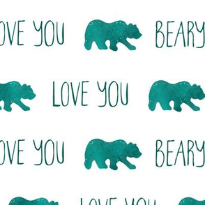 Love You Beary Much - Teal