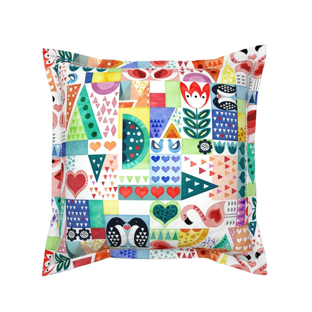 Serama Throw Pillow featuring Love Birds by adenaj