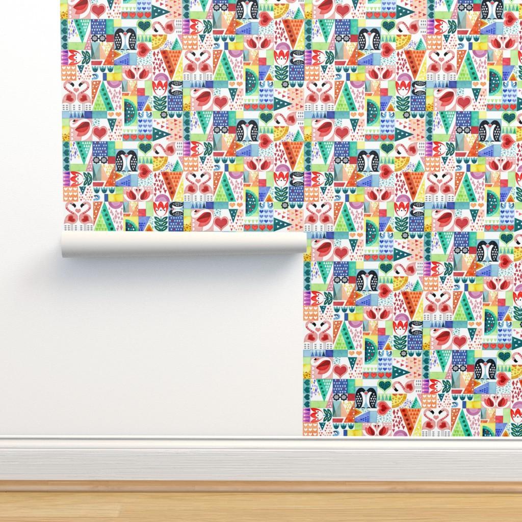 Isobar Durable Wallpaper featuring Love Birds by adenaj