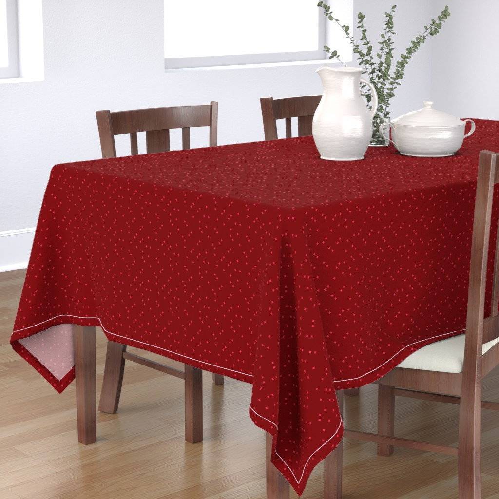 Bantam Rectangular Tablecloth featuring Sparky by watercolourdesign