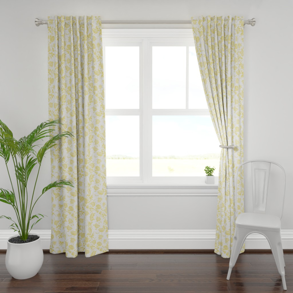Plymouth Curtain Panel featuring alstan buttercup by lilyoake