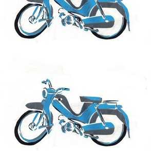 handprinted_retro_moped_scooter_bike_blue