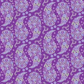 Paisley on purple